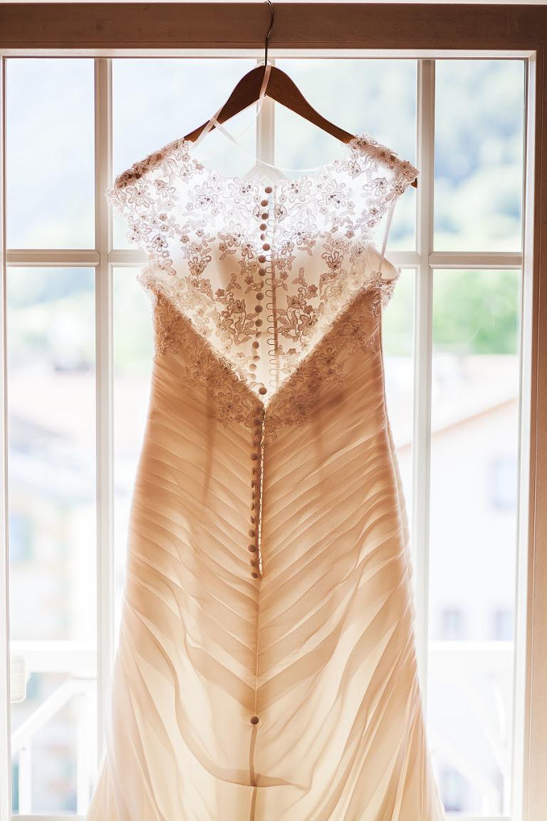 wedding dress details dolomites nuptials