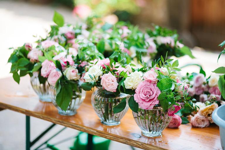 decorazione floreale matrimonio castello englar