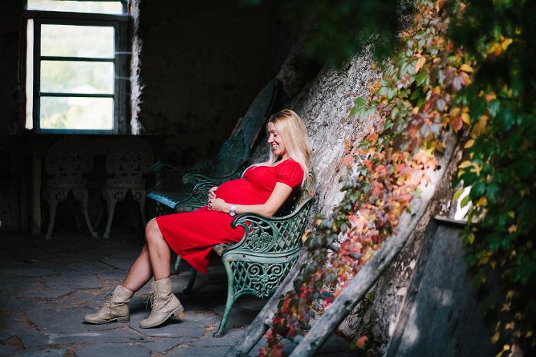 servizio fotografico gravidanza en plein air Trento Bolzano